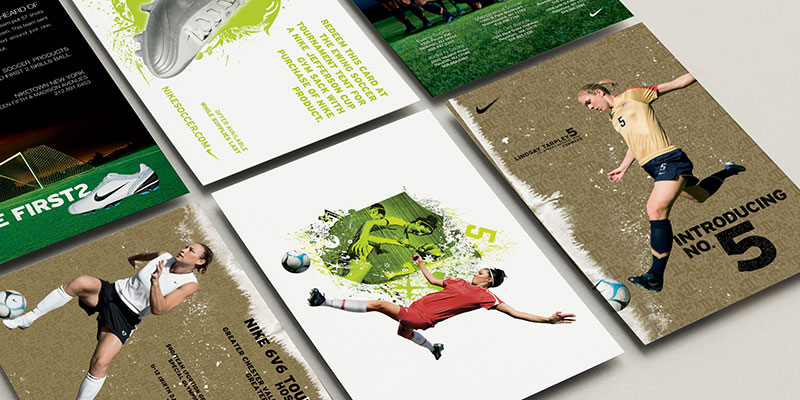 promo cards for Nike developed by pondSoup creative services agency